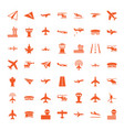49 aviation icons vector image vector image