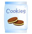 A pack of cookies vector image vector image