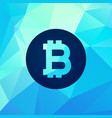 abstract bitcoin currency background vector image vector image