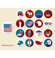American design elements Flat design icons set vector image vector image