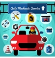 Auto Mechanical Service Decorative Icons Set vector image vector image