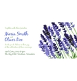 background with violet watercolor lavender vector image