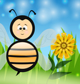 Bee in The Summer vector image vector image