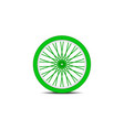 bicycle wheel in green design with shadow vector image vector image