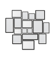 Big set of picture frames isolated on white vector image vector image