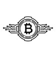 bitcoin abstract silver symbol internet money vector image