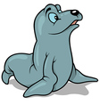 Blue Eyed Seal vector image vector image
