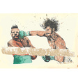 boxing match vector image vector image