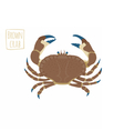 Brown crab cartoon vector image vector image