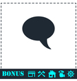 Bubble icon flat vector image vector image