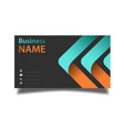 business card modern design image vector image vector image