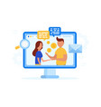 business partners interaction vector image vector image