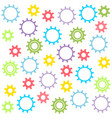 childs texture of colored gears vector image
