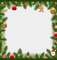 christmas border xmas postcard transparent vector image vector image