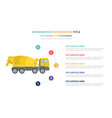 concrete mixer infographic template concept with vector image