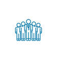 corporate department linear icon concept vector image vector image