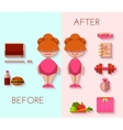 diet result in flat style vector image vector image