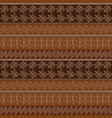 dotted motifs in african style on brown background vector image vector image