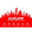 Europe Travel Landmarks vector image vector image