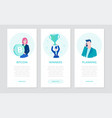 finance - set flat design style banners vector image