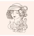 Flapper girl vector image vector image