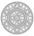 geometric circular pattern vector image vector image