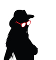 girl with sunglasses silhouette vector image vector image