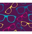 Glasses seamless pattern retro sunglasses vector image vector image