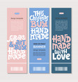 hand made quotes vector image