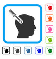 head surgery screwdriver framed icon vector image vector image
