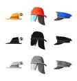 headwear and cap logo set vector image vector image