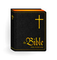 holy bible vintage leather black book vector image