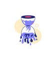 hourglass filled with water vector image