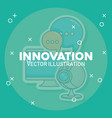 innovation and technology design vector image vector image
