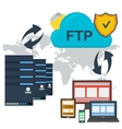 Internet FTP server and online storage vector image