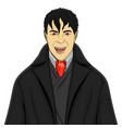isolated object on white background man vampire in vector image vector image
