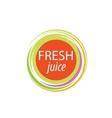 juice splash sign vector image