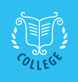 logo patterns and books for college vector image vector image
