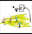 man playing basketball vector image vector image