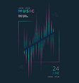 music festival poster with equalizer gradient line vector image vector image