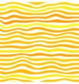 Orange waves simple seamless pattern vector image