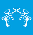 paintball guns icon white vector image vector image