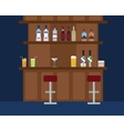 Party Bar with lots of different alcohol drinks vector image vector image
