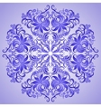 pattern of blue ornament for design vector image vector image