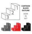 pedestal icon cartoon single education icon from vector image vector image