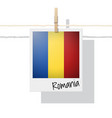 photo of romania flag vector image vector image