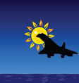 plane and sun and sea vector image vector image