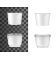plastic containers for sour cream yogurt or jam vector image vector image