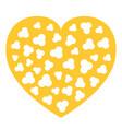 popcorn inside heart shape frame i love cinema vector image vector image