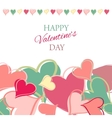 Post card for Valentine s day vector image vector image